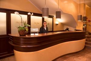 The lobby or reception area at Hotel Schlicker