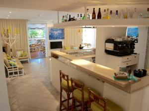 The lounge or bar area at Hotel Meridiana