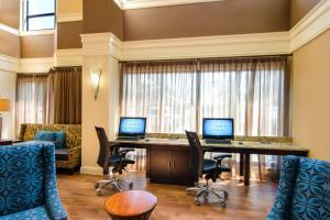 The business area and/or conference room at Hampton Inn & Suites-Atlanta Airport North-I-85