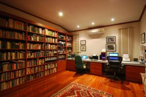 The library in the resort