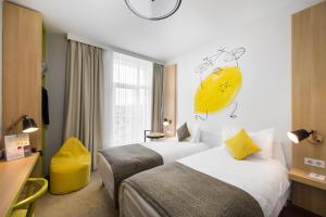 Cama o camas de una habitación en Ibis Styles Budapest City