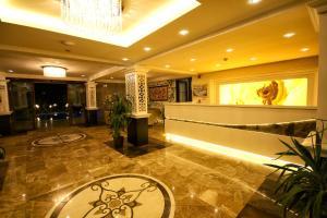 El vestíbulo o zona de recepción de Venus Suite Hotel