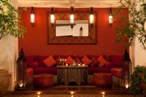 A seating area at Riad Assouel