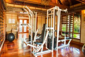 The fitness centre and/or fitness facilities at Likuliku Lagoon Resort - Adults Only