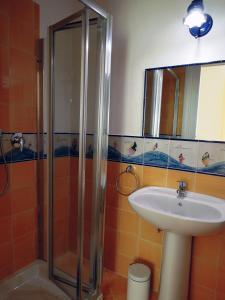 A bathroom at Sole e Mare