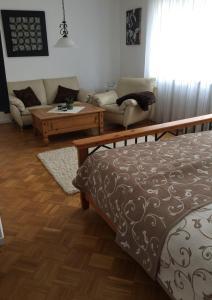 Ein Bett oder Betten in einem Zimmer der Unterkunft Apartment Burgblick