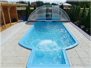 The swimming pool at or near Penzion Buchmann