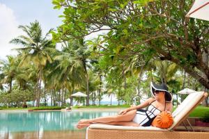 The swimming pool at or near Taj Exotica Resort & Spa, Goa