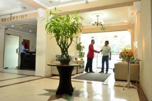 Staff members at Pearl City Hotel