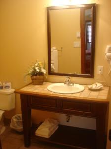 Salle de bains dans l'établissement Auberge du Lac Morency