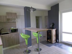 Kuchyňa alebo kuchynka v ubytovaní Apartment Vihorlat