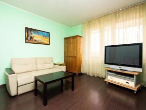 A seating area at ApartLux Yugo-Zapadnaya Studio