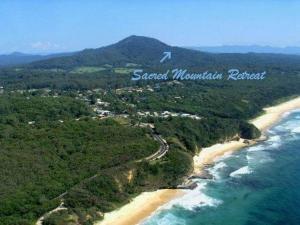 A bird's-eye view of Sacred Mountain Retreat