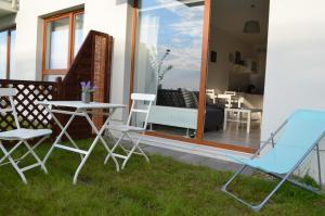 Patio lub wspólna przestrzeń na świeżym powietrzu w obiekcie Apartament BAIGO