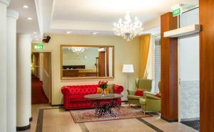 Lounge alebo bar v ubytovaní Hestia Hotel Draugi
