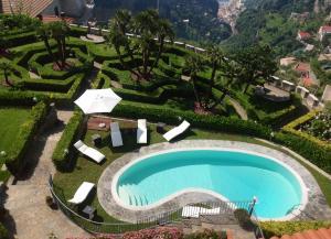 A bird's-eye view of Villa Minuta