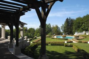 The swimming pool at or near Domaine des Avenières