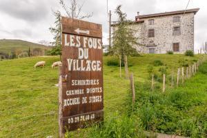 A garden outside Les Fous du Village