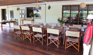 A restaurant or other place to eat at Wildebeest Eco Camp