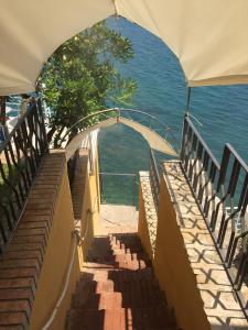 A balcony or terrace at Hotel La Lucertola