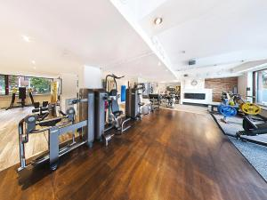The fitness center and/or fitness facilities at Hotel Haaga Central Park