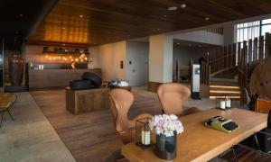 The lobby or reception area at Azor Hotel