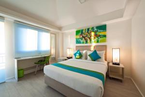 A room at Lime Hotel Boracay