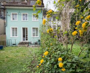 A porch or other outdoor area at EMMA Bett und Bistro