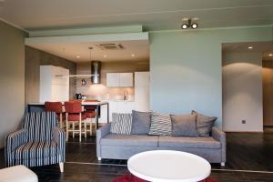 Istumisnurk majutusasutuses Kuressaare Marina Apartment