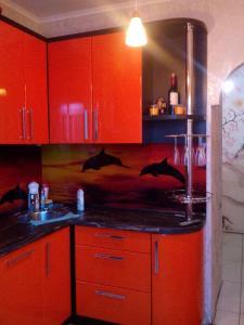 Кухня или мини-кухня в Apartments on Ulitsa Narodnaya