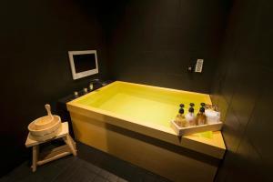 A bathroom at Ryokan & Day Shizuku
