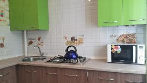 Кухня или мини-кухня в Zoo Apartment