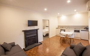 A seating area at The Mill Apartments Clare Valley