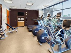 The fitness center and/or fitness facilities at DoubleTree by Hilton San Francisco Airport North