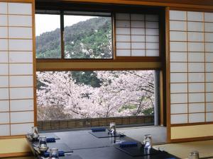 旅館から撮影された、または一般的な山の景色
