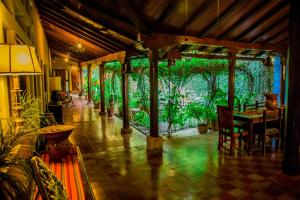A restaurant or other place to eat at Posada Fuente Castalia