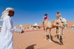 Guests staying at Desert Nights Camp