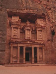 The facade or entrance of Mövenpick Nabatean Castle Hotel