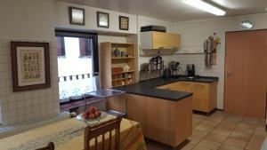 Küche/Küchenzeile in der Unterkunft Ferienhaus im Wiesengrund