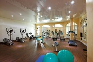 Das Fitnesscenter und/oder die Fitnesseinrichtungen in der Unterkunft Vita Wellnesshotel