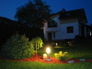 Vonkajšia záhrada v ubytovaní Vila Gilė