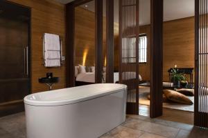 A bathroom at The Chedi Andermatt