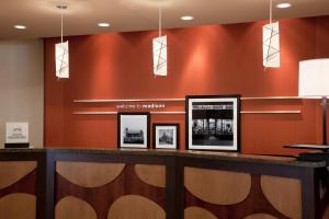 The lobby or reception area at Hampton Inn & Suites Madison Downtown