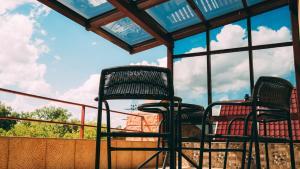 Патио или другая зона на открытом воздухе в Hotel Montana