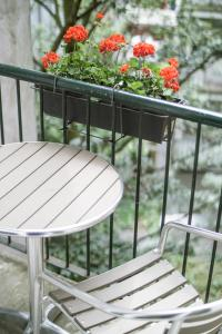 A balcony or terrace at Hotel Larende