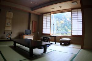 A seating area at Osake no Oyado Kisen
