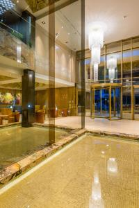 The lobby or reception area at Hotel El Dorado Bogota