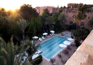 A view of the pool at Ouarzazate Le Riad or nearby