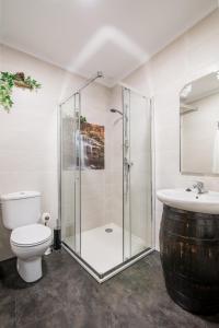 A bathroom at Casa Carla