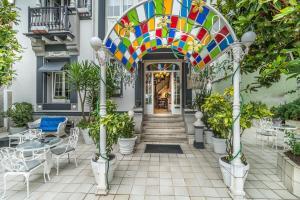 A porch or other outdoor area at Hotel Boutique Las Brisas